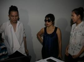 Nguyên Thảo với Mỹ Linh và Tùng Dương - tập ở WE, 21.4.2012